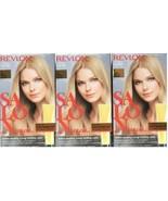 (3) Revlon SALON COLOR 9 Light Natural Blonde Color Booster Permanent Ha... - $34.09