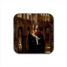 Madonna in The Church Jan Van Eyck Non-Slip Drink/Beer Coaster Set - Art - $6.74