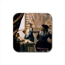 Malkunst Johannes Vermeer Non-Slip Drink/Beer Coaster Set - $6.74