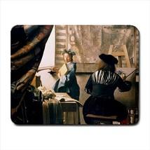 Malkunst Johannes Vermeer Mousepad (Neoprene Non-slip Mousemat) - Painting (Art) - $7.71