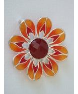 Carnelian Sunflower Pendant - $68.00