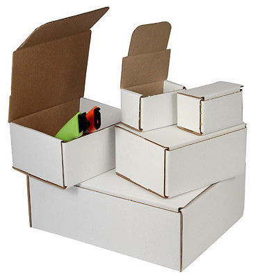 100 -5 x 3 x 1 White Corrugated Shipping Mailer Packing Box Boxes