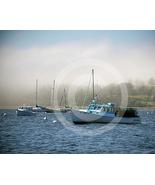 'Boats in Fog' - 8x10 Mounted Fine Art Print  - $25.99