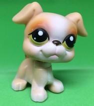 Littlest Pet Shop #235  Tan Boxer Dog Puppy w/Green Eyes LPS - $4.89