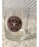 2008 Old Logo Starbucks clear glass 11oz mug mermaid coffee*tea*spices* - $20.00