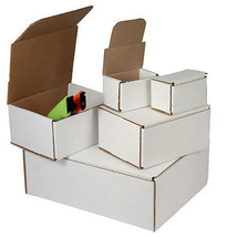 100 -6 x 6 x 2 White Corrugated Shipping Mailer Packing Box Boxes - $80.60