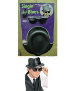 BLUES BROTHERS ADULT SZ HAT AND GLASSES KIT - $12.00
