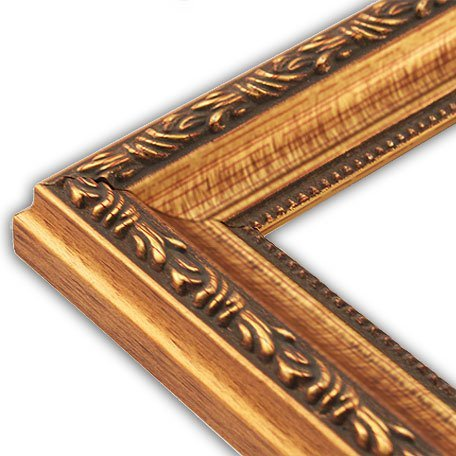 The Rusty Roof Scrolled Gold Picture Frame Solid Wood