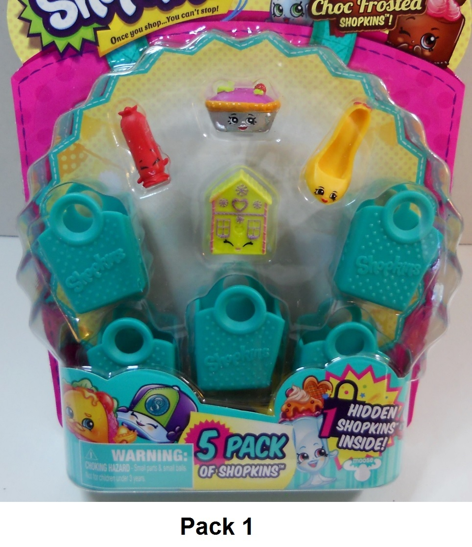 Shopkins 5 packs Season 3 find the choc frosted