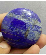Lapis Palm Stone Worry Soap Round Stone Flat Lapis Lazuli Palm Stone Sto... - $14.85