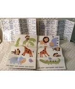 Removable wall decals baby nursery hippo giraffe monkey alligator lion ... - $24.00