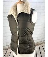 American Eagle AE Down Feather Vest Winter Quilted Puffer Jacket Womens ... - $45.54