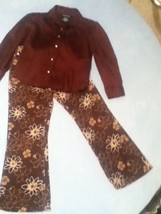 Girls -Lot of 2 -Size 5 -Cherokee brown floral pants/Size 4-5 George blouse - $14.75