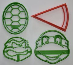 Teenage Mutant Ninja Turtles TMNT Characters Set Of 4 Cookie Cutters USA... - $9.99