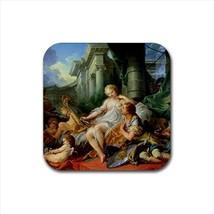 Rinaldo E Armida Jan Van Eyck Non-Slip Drink/Beer Coaster Set - Painting... - $6.74