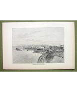CANADA View of Vancouver City Town - 1880s Anti... - $12.38