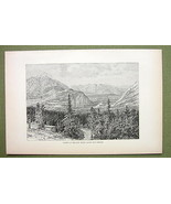 CANADA Banff Hot Springs Bow River - 1880s Anti... - $12.38