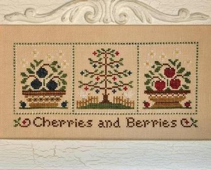 Cherries and Berries fruit cross stitch chart Country Cottage Needleworks