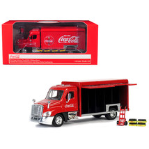 Beverage Delivery Truck Coca-Cola with Handcart and 4 Bottle Cases 1/50 ... - $45.19