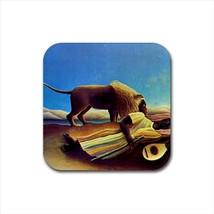 Sleeping Gypsy Henri Rousseau Non-Slip Drink/Beer Coaster Set - $6.74