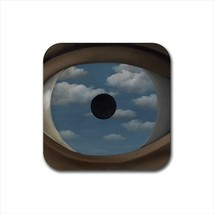 Specchio Falso Rene Magritte Non-Slip Drink/Beer Coaster Set - Painting ... - $6.74
