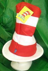 DR SEUSS CAT IN THE HAT HAT RED & WHITE WIRED BRIM