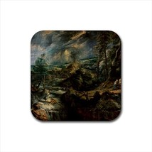 Stormy Landscape with Philomenon Gemitterland Non-Slip Drink/Beer Coaste... - $6.74
