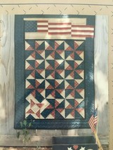 Liberty Homestead Small Quilt Pattern Blue Whale Designs American Flag Old Glory - $7.64