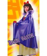 "BLUE SATIN CAPE WITH COLLAR 36""  - $18.00"