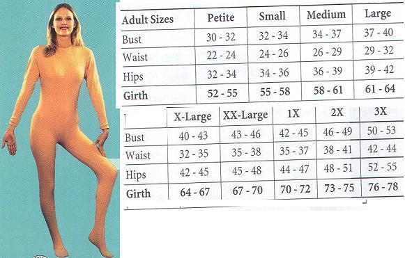 ADULT UNITARD LADIES MD NUDE BEIGE FULL BODY SUIT  Bonanza