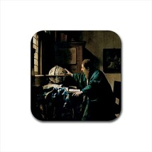 The Astronomer Johannes Vermeer Non-Slip Drink/Beer Coaster Set - $6.74