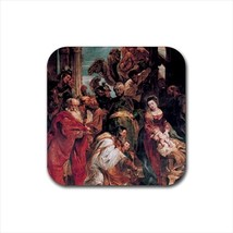 The Adoration of the Magi Peter Paul Rubens Non-Slip Drink/Beer Coaster Set - $6.74