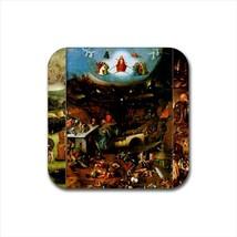 The Last Judgement Hieronymus Bosch Non-Slip Drink/Beer Coaster Set - $6.74