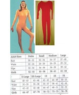 ADULT UNITARD RED FULL BODY SUIT LADIES MD - $60.00