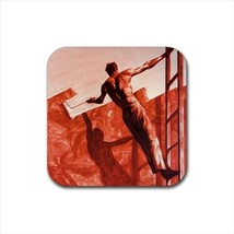 Triumph over Mastery Mark Tansey Non-Slip Drink/Beer Coaster Set - $6.74