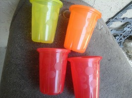 Lot Of 4 Tomy First Year Take and Toss 10 Ml.Toddler Cup 2 Red 1 Yellow ... - $9.89