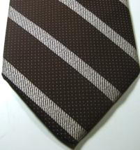 Pierre Cardin Rich White Silver Striped Wide Rare Vintage Tie  - $29.99