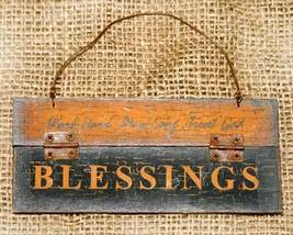 Blessings Ornament or Plaque Rustic Country - $4.95