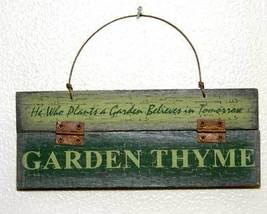Garden Thyme Ornament or Plaque Rustic Country - $4.95