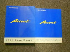 2001 HYUNDAI ACCENT Service Repair Shop Manual Set FACTORY W WIRING DIAG... - $247.45