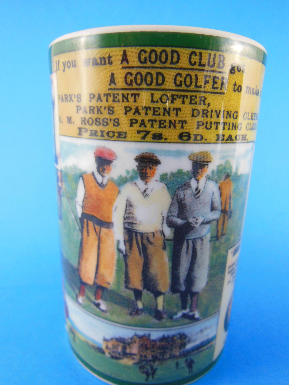Dunoon Stoneware Golf Theme  Mug Cup Scotland