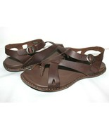 ✿ KEEN Alman Dark Brown Leather Ankle-Strap Sandals 7.5 M EXCELLENT!  L@... - $42.74