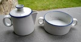 Dansk Blue Mist Creamer w/Lid & Sugar Bowl - $24.99