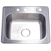Gourmetier Studio GKTS2522 Self-Rimming Single Bowl Kitchen Sink, Satin Nickel - $58.64
