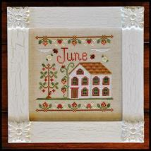 June Cottage of the Month Series cross stitch chart Country Cottage Needleworks - $5.40