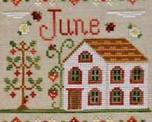 June Cottage of the Month Series cross stitch chart Country Cottage Needleworks