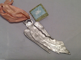 NWT Cynthia Webb Designs Pewter Praying Flying Angel Hanging Wall Ornament image 6
