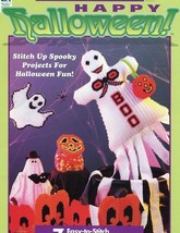 Happy Halloween Tissue Windsock Mobile, Puppet, Moon Plastic Canvas PATTERN - $4.47
