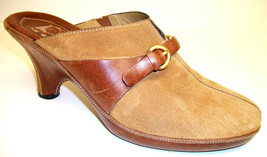 COLE HAAN Size 9.5 Brown Tan Suede Mules Wedges Shoes 9 1/2 - $31.50