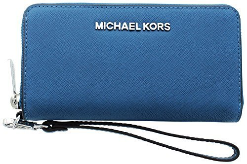 Michael Kors Jet Set Women's Smartphone Wallet Pocket Book Blue